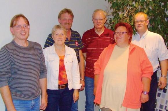 Ny afdelingsbestyrelse (fra venstre): Esben Trige, Linda Adamsen, Kurt Bech Hansen, Ole Langballe, Ulla Jellesen og John Steen Vandsbæk.