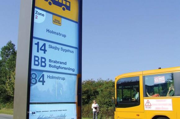 Visualiserings-foto fra projektets ansøgning. Alle afdelinger i Brabrand Boligforening får busstop på den nye rute.