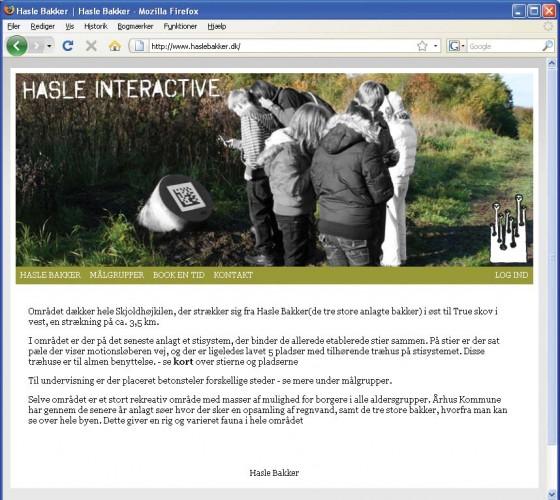 En fotomontage på Hasle Bakkers hjemmeside viser, hvordan qr-stregkoderne  forventes i brug.