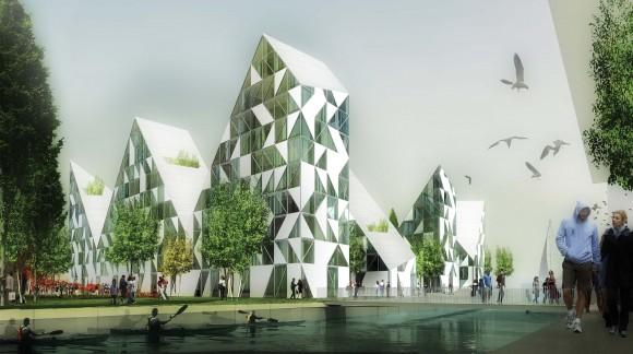 Visualisering af den nye afdeling Isbjerget på Havnen. Pressefoto fra isbjerget.com
