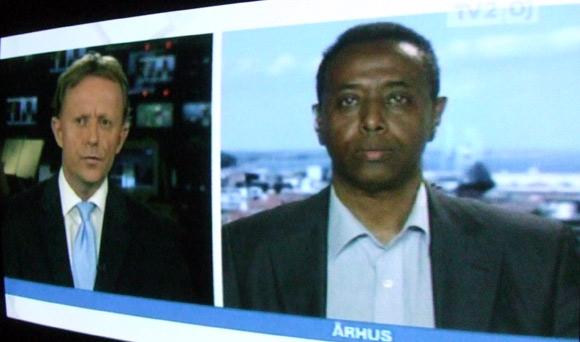 Byrådsmedlem Ali Nuur (V) i direkte interview på TV2 Østjylland