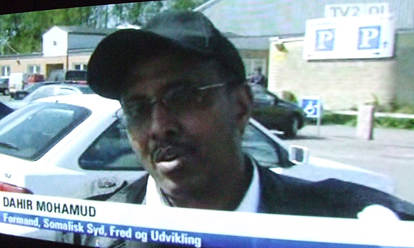 """Dahir Mohamud, formand for """"Somalisk Syd, Fred og Udvikling"""" på TV2 Østjylland"""