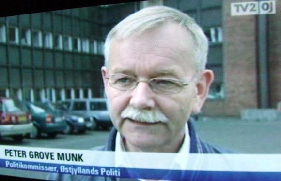 Politikommisær Peter Grove Munk fra Østjyllands Politi på TV2 Østjylland