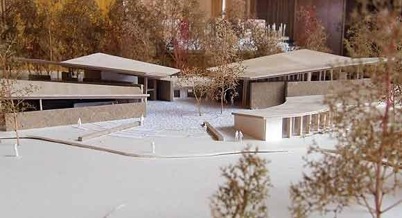 Forslag til moske. Model af afgangselev fra Arkitektskolen i Århus, Marie Sofie Larsen 2007 (arkivfoto: Ulrik Ricco Hansen)