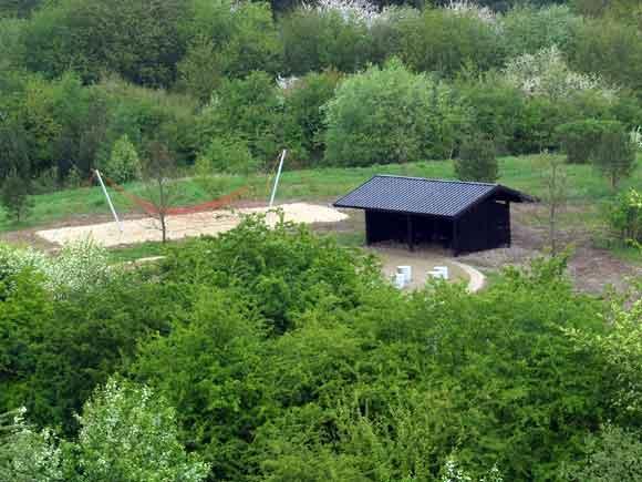 Hytte ved færdiggørelse i starten af maj 2009
