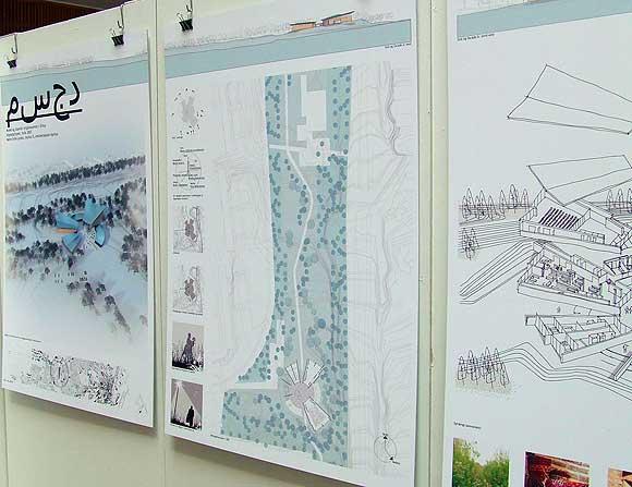 Forslag til moske og placering i Gellerup ved krydset mellem Ringvejen og Silkeborgvej. Model af afgangselev fra Arkitektskolen i Århus, Marie Sofie Larsen 2007 (arkivfoto: Ulrik Ricco Hansen)