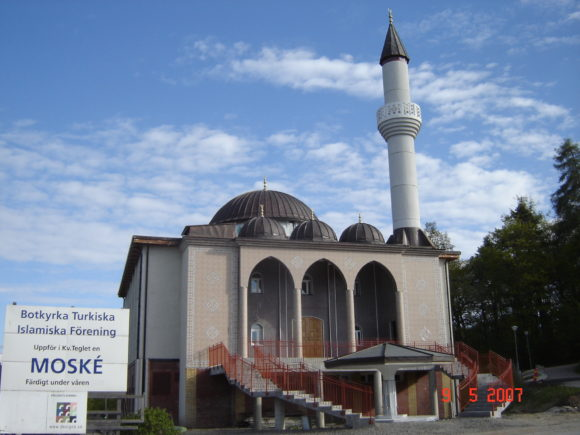 Arkivfoto af Davide Denti. Fittja-moskeen i Stockholm i Sverige