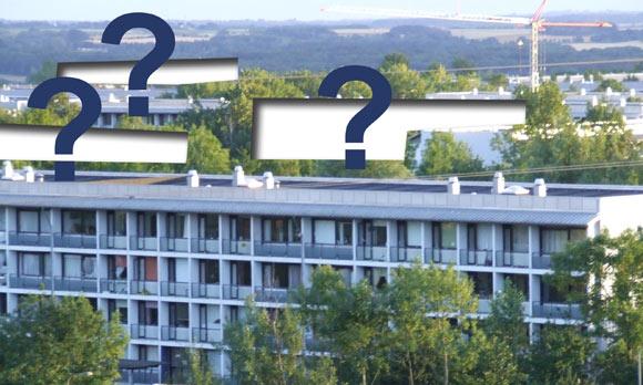 Fotocollage baseret på arkivfoto fra Gellerupparken af Ulrik Ricco Hansen