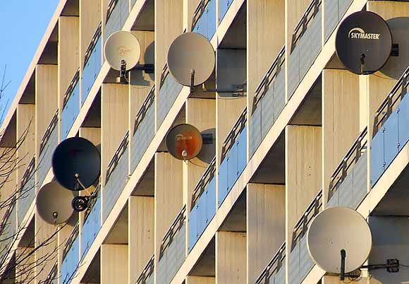 Arkivfoto: Paraboler i Gellerupparken