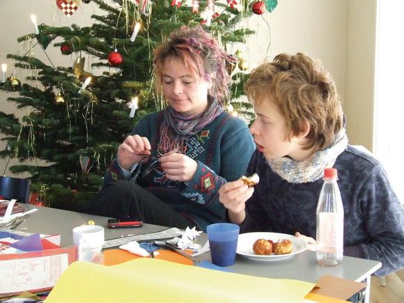Juletræsfest i fælleshuset Stenhytten 2008.
