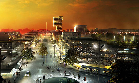 Visualisering: Gellerupparken set fra City Vest