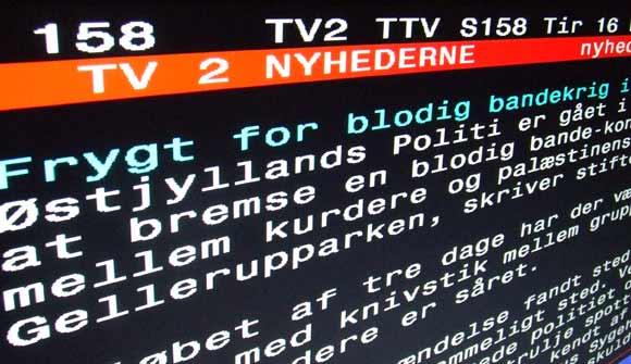 Fra TV2 tekst-tv