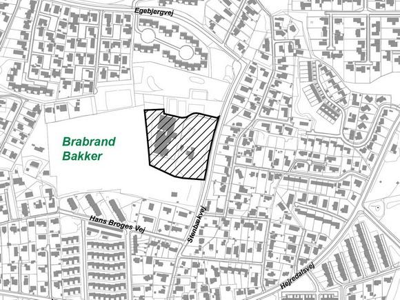 Kort fra Århus Kommunes lokalplan