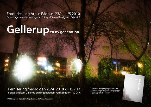 Invitation til fernisering på fotobogen 'Gellerup - en ny generation'