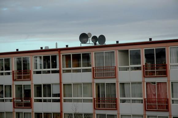 Parabolerne i Kjærslund i Viby  er placeret på taget