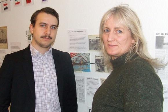 Helle Hansen, formand for Gellerupparken (th) og  Troels Bo Knudsen, tidligere formand for Toveshøj (tv)