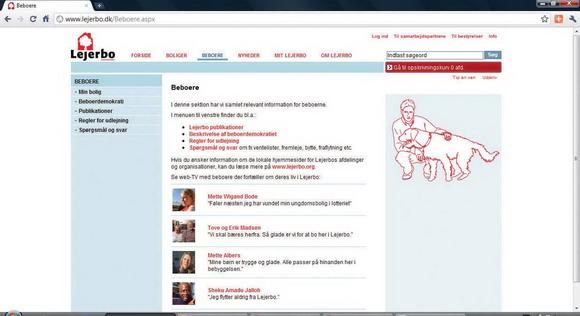 Lejerbos hjemmeside med onlinepublikationer og webtv.
