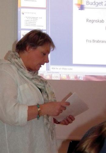 Afdelingsformand Lene Charlotte Olm berettede om årets gang i Odinsgård
