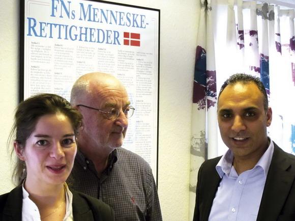 Dominika Prokop, Tage Gøttsche og Rabih Azad-Ahmadogså er de nye folk på gården i Gellerup.