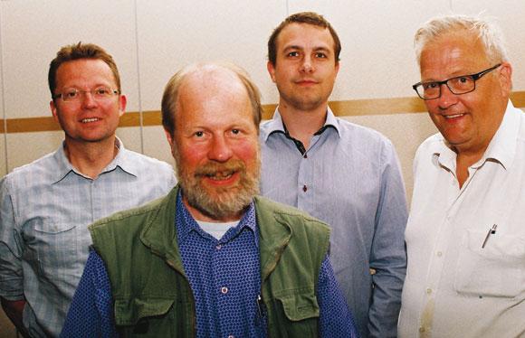 De genvalgte: René, Keld, Troels og Hans Esmann