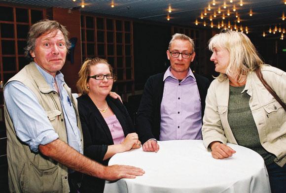 Kritikerne: her Vagn Eriksen, Tanja Bergstrøm, Jesper Fræer og Helle Hansen