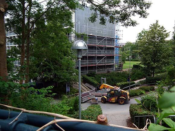 Arkivfoto af Ulrik Ricco Hansen: Renovering i Gellerupparken