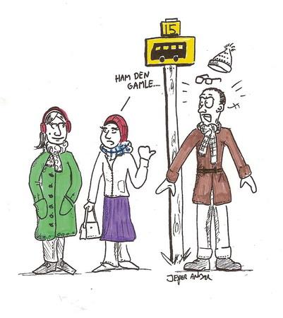 Illustration (kun online) af Jesper Ankjær. Fra tidligere læserbrev i Skræppebladet