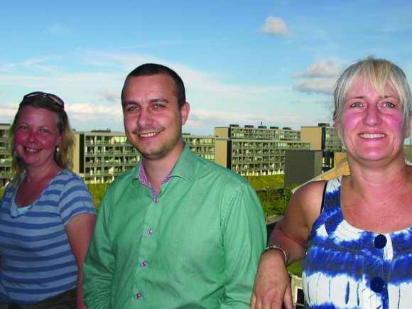 Medlem af foreningsbestyrelsen Troels Bo Knudsen og afdelingsformændene Helle Hansen, Gellerupparken, og Anett S. Christiansen, Toveshøj, udgør triumviratet bag den nye helhedsplan for området.