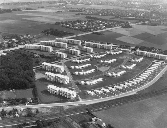 Oversigtsbillede fra 1960 - foto udlånt fra Lokalhistorisk arkiv
