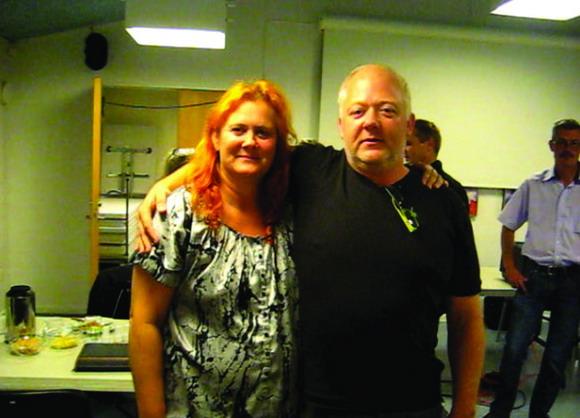 Afdelingsbestyrelsesmedlem Angeline  og varmemester Flemming Lienhøft.