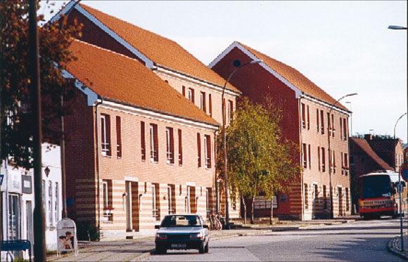 Ungdomsboligerne i Drejergården på hovedgaden i Brabrand