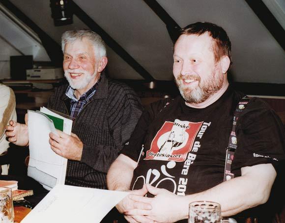 Bjarne Laursen og Ole Madsen fortæller historier fra lavets unge dage.