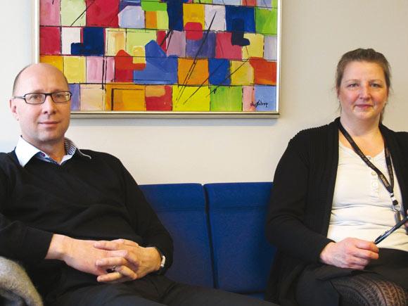 Regnskabschef Mogens Clingman og kontorassistent Alice Luxhøj