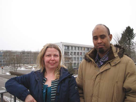 Anett og Abdulmalik fra afdelingsbestyrelsen ønsker begge, at Toveshøj bliver et dejligt sted at bo.