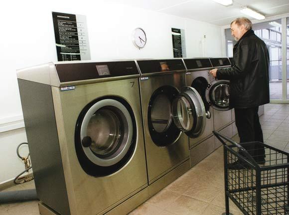 Nye maskiner og et rent og lækkert vaskeri