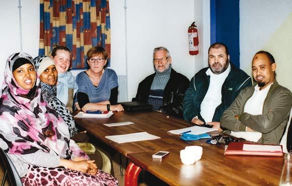 Fra venstre: Farhiyo, Ilham, Anett, Janne, Finn, Arafat og Abdulmalik.