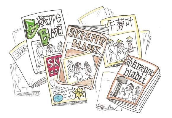 Nyt magasin-design for Skræppebladet. Illustration af Jesper Ankjær