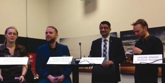 Foruden borgmester Jacob Bundsgård deltog fire kommunalpolitikere i debatten