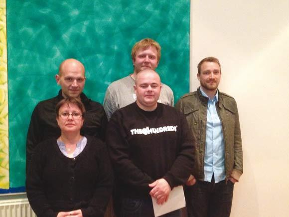 Den nye bestyrelse:  Martin, Tom, Christina, Johnny og Anders
