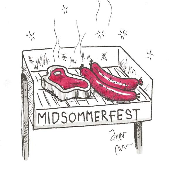 Midsommerfest, grill