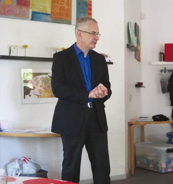 Niels Højberg på besøg hos Bydelsmødrene som stedfortræder for borgmesteren