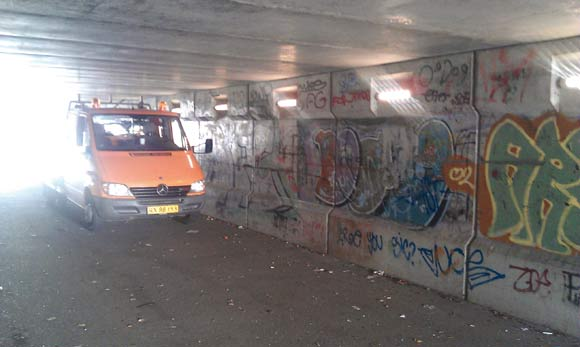 Tunnelen fik sidste år opsat ny belysning med led-lamper.