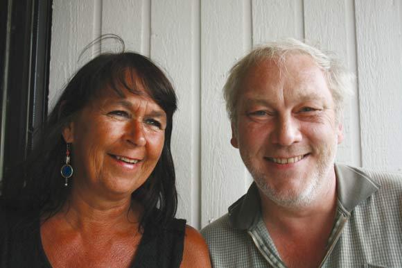 Socialrådgiverne Abelone Asingh og Jens Høgh holder til Gudrunsvej 16, 1. th.