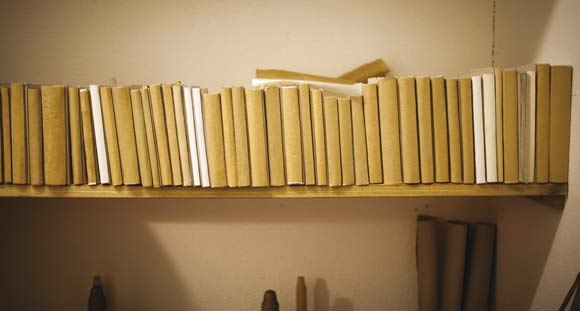 Et udvalg af Peter Kjellerups indbundne bøger