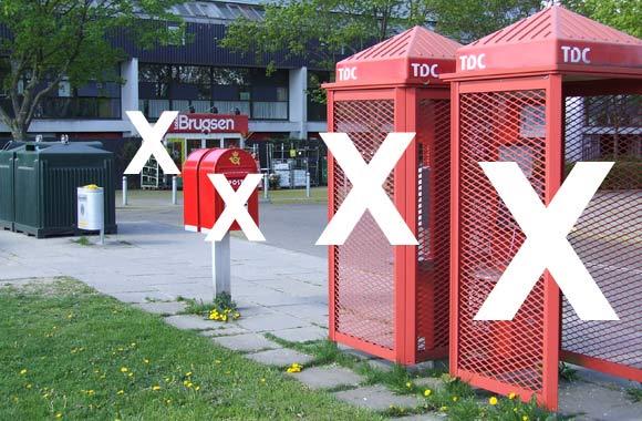 Telefonboksene er væk. Den ene postkasse er væk. Og nu forsvinder LokalBrugsen også