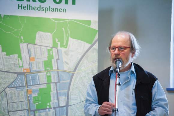 Næstformand Keld Albrechtsen er boligforeningens ansvarlige for Helhedsplanen, og han slog fast, at vi sammen kan være med til at gøre Gellerup til et endnu bedre sted at bo og leve.