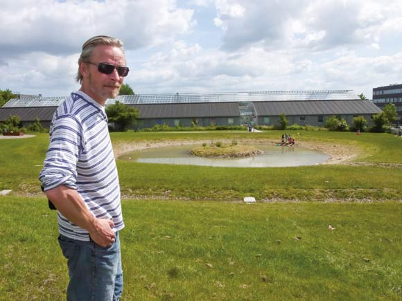 Jesper Fræer har været med til at arbejde med renoveringen af Skovgårdsparken