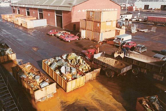 To tredjedele af lasten gik tabt på turen over Atlanterhavet og måtte bortskaffes for et ikke uanseeligt beløb.