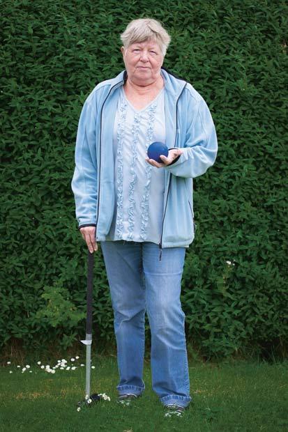 Kirsten, 70 år  Det bedste ved krolf er, at jeg kommer ud og får rørt mig.