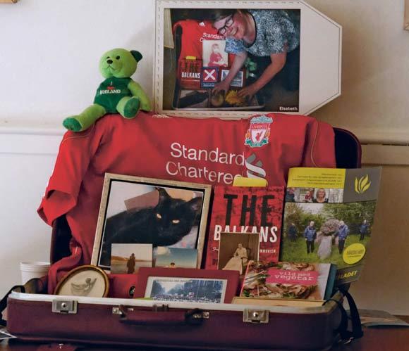Min kuffert, som var på udstilling i Den Gamle By.